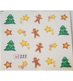 STICKERS WATER DECAL NATALE COD.1222